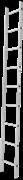 Алюминиевая приставная лестница Новая Высота NV 121 13 ступеней 1210113
