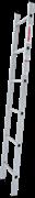 Алюминиевая приставная лестница Новая Высота NV 121 6 ступеней 1210106