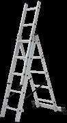 Алюминиевая трехсекционная лестница Новая Высота NV 123Y 3x5 1230305Y