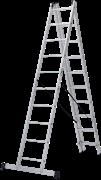 Алюминиевая трехсекционная лестница Новая Высота NV 123 3x10 1230310