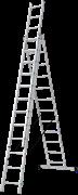 Алюминиевая трехсекционная лестница Новая Высота NV 123 3x12 1230312