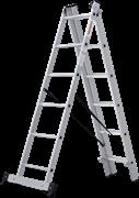 Алюминиевая трехсекционная лестница Новая Высота NV 123 3x6 1230306