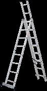 Алюминиевая трехсекционная лестница Новая Высота NV 123 3x8 1230308