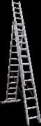 Алюминиевая трехсекционная лестница Новая Высота NV 123 3x13 1230313