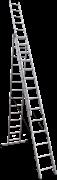 Алюминиевая трехсекционная лестница Новая Высота NV 123 3x14 1230314