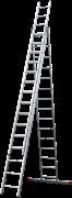 Алюминиевая трехсекционная лестница Новая Высота NV 123 3x15 1230315