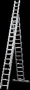 Алюминиевая трехсекционная лестница Новая Высота NV 123 3x16 1230316
