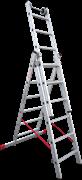 Алюминиевая трехсекционная лестница Новая Высота NV 523 3х6 5230306