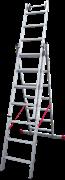 Алюминиевая трехсекционная лестница Новая Высота NV 523 3х7 5230307