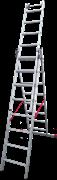 Алюминиевая трехсекционная лестница Новая Высота NV 523 3х8 5230308