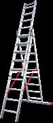 Алюминиевая трехсекционная лестница Новая Высота NV 523 3х9 5230309