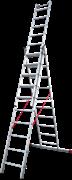 Алюминиевая трехсекционная лестница Новая Высота NV 523 3х10 5230310