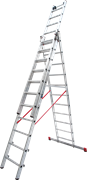 Алюминиевая трехсекционная лестница Новая Высота NV 523 3х11 5230311