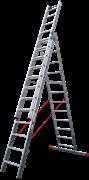 Алюминиевая трехсекционная лестница Новая Высота NV 523 3х12 5230312