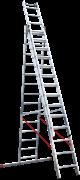 Алюминиевая трехсекционная лестница Новая Высота NV 523 3х14 5230314
