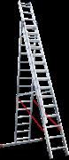 Алюминиевая трехсекционная лестница Новая Высота NV 523 3х15 5230315