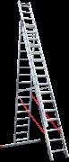 Алюминиевая трехсекционная лестница Новая Высота NV 523 3х16 5230316