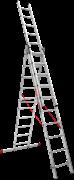 Алюминиевая трехсекционная лестница Новая Высота NV 323 3х10 3230310