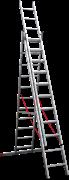 Алюминиевая трехсекционная лестница Новая Высота NV 323 3х11 3230311
