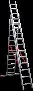 Алюминиевая трехсекционная лестница Новая Высота NV 323 3х12 3230312