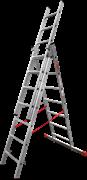 Алюминиевая трехсекционная лестница Новая Высота NV 323 3х7 3230307