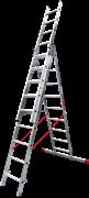 Алюминиевая трехсекционная лестница Новая Высота NV 323 3х9 3230309