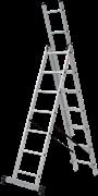 Алюминиевая трехсекционная лестница Новая Высота NV 223 3х6 2230306