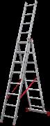 Алюминиевая трехсекционная лестница Новая Высота NV 223 3х8 2230308