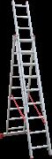Алюминиевая трехсекционная лестница Новая Высота NV 223 3х9 2230309
