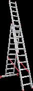 Алюминиевая трехсекционная лестница Новая Высота NV 223 3х10 2230310
