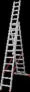 Алюминиевая трехсекционная лестница Новая Высота NV 223 3х11 2230311