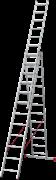 Алюминиевая трехсекционная лестница Новая Высота NV 223 3х12 2230312