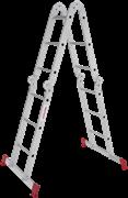 Алюминиевая лестница трансформер Новая Высота NV 233 4x3 с помостом 2330403