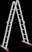 Алюминиевая лестница трансформер Новая Высота NV 233 4x4 с помостом 2330404