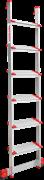 Алюминиевая приставная лестница Новая Высота NV 517 6 ступеней 5170106