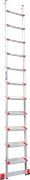 Алюминиевая приставная лестница Новая Высота NV 517 11 ступеней 5170111