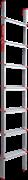 Алюминиевая приставная лестница Новая Высота NV 317 7 ступеней 3170107