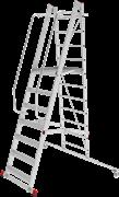 Передвижная лестница-подмости с площадкой Новая Высота NV3541 12 ступеней 3541112