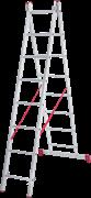 Алюминиевая двухсекционная лестница Новая Высота NV 222 2х8 2220208
