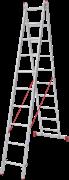 Алюминиевая двухсекционная лестница Новая Высота NV 222 2х10 2220210
