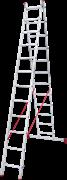 Алюминиевая двухсекционная лестница Новая Высота NV 222 2х12 2220212