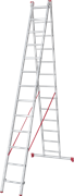 Алюминиевая двухсекционная лестница Новая Высота NV 222 2х13 2220213