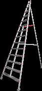 Алюминиевая садовая стремянка Новая Высота NV5191 14 ступеней 5191114