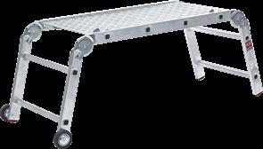 Алюминиевые рабочие подмости Новая Высота NV3341 2x4x2 ступени с металлическим помостом 3341242