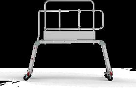 Алюминиевые рабочие подмости Новая Высота NV5341 2x4x2 ступени ступени с металлическим помостом 5341242