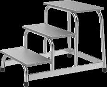 Алюминиевая монтажная подставка Новая Высота NV3710 2 ступени 3710102
