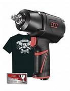 """Пневматический ударный гайковерт MIGHTY SEVEN 1/2"""", 1627 Нм NC-4255QH01, система «EZ Grease», в комплекте футболка"""