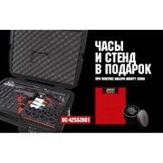 Набор пневмоинструмента MIGHTY SEVEN NC-4255ZG01 ложемент, 41 предмет, в комплекте часы и стенд