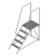 Лестница-подмости с 2мя поручнями ALUR ПД-1,4С2