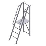 Лестница-платформа фиксированной высоты с резиновыми пятками ALUR ЛПФВА-1,25Р